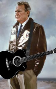 George H. W. Bush Playing Guitar