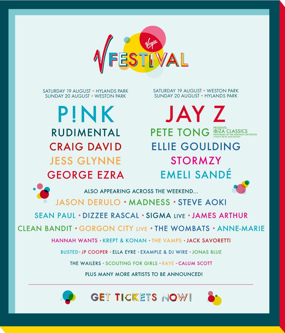 V Festival Lineup Poster 2017
