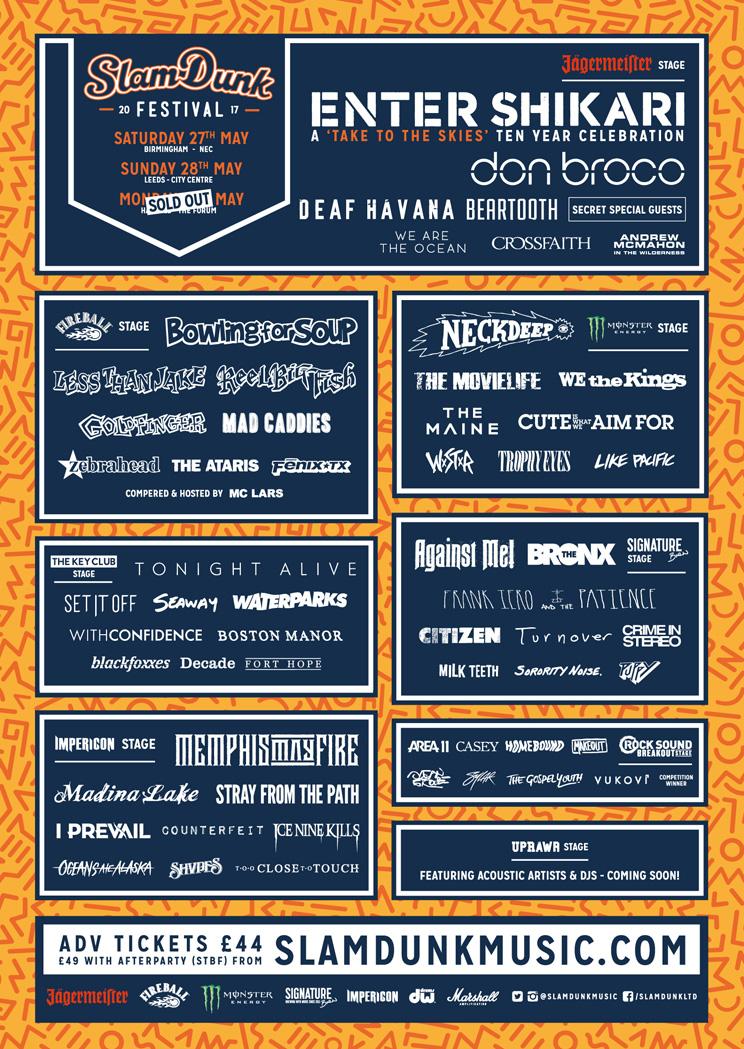 Slam Dunk Festival lineup 2017